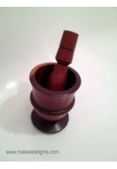 Hand crafted wooden motar pestle set